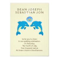Gay Dolphins And Rainbow Love Heart Bubble Wedding Card