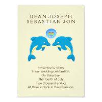 Gay Dolphins And Rainbow Love Heart Bubble Wedding Card