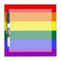 Gay Pride Rainbow Flag Dry Erase Board