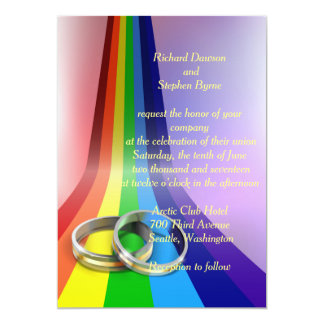Wedding Invitation Designs Rainbow Motif Wedding Invitation