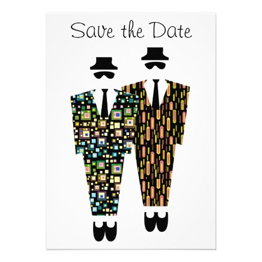 Gay Save The Date Announcement Card