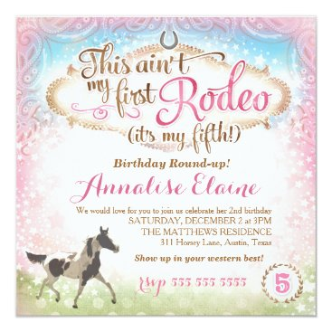 GC This Ain't My First Rodeo 5th Birthday Card