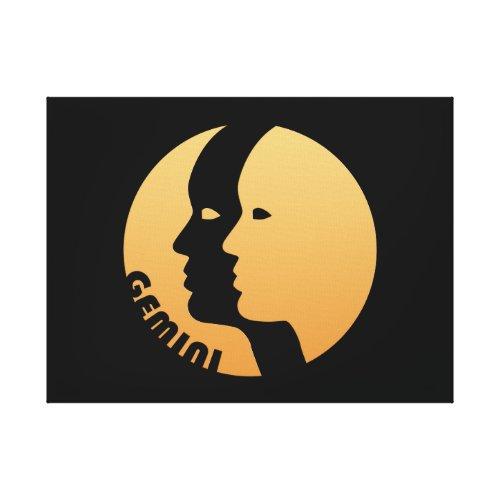 Gemini Zodiac Sign Canvas Print