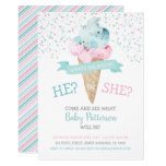 Gender Reveal Invitation Ice Cream Party
