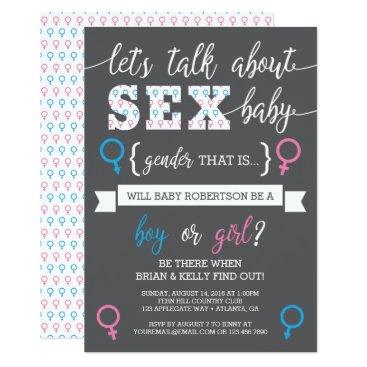 Gender Reveal Invitation, Let's Talk About Gender Card