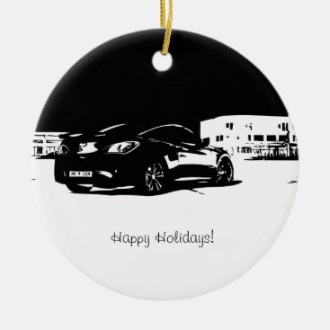 Genesis Coupe Rear View Ceramic Ornament