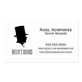 Gentleman Top Hat Retail Business Card