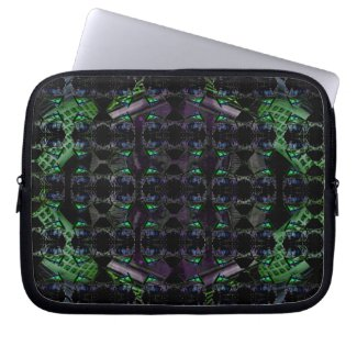 Futuristic Geometric Art 2 Laptop Case by CricketDiane 2012