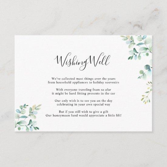 Geometric Eucalyptus Greenery Wishing Well Card