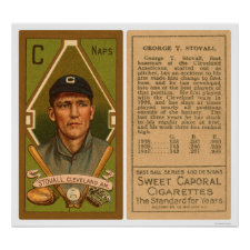 George Stovall Cleveland Baseball 1911 Posters