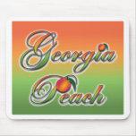 Georgia Peach - Cursive mousepads