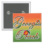 Georgia Peach - Cursive buttons