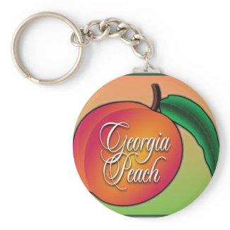 Georgia Peach Key Chain