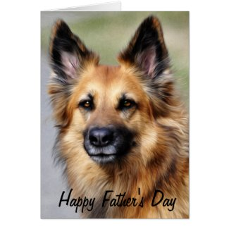 German Shepherd Happy Father's Day Cards