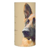 German Shepherd Pet Memorial and Remeberance Flameless Candle
