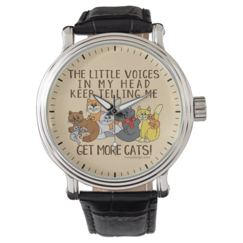 Get More Cats Funny Saying Watch