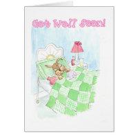 Get Well Card - Sick Bunny Rabbit