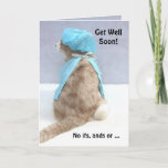 Funny Kitty Butts Get Well Soon! Card