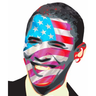 Giant Presidential Smile with Flag shirt