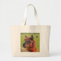 Ginger Llama Large Tote Bag