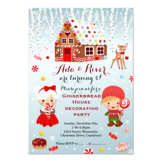 Gingerbread Invitation Front