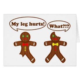 Gingerbread Humor Card
