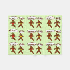 Gingerbread Humor Pattern Fleece Blanket