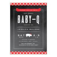 Gingham Baby BBQ shower invitation