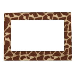 Giraffe Pattern Skin Background Picture Frame Magnets