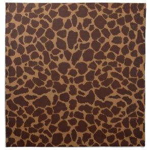 Giraffe Skin Print Pattern Cloth Napkin