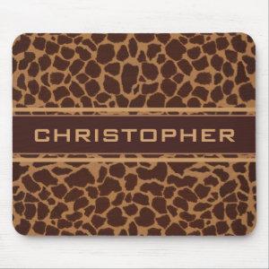 Giraffe Skin Print Pattern Personalize Mouse Pad