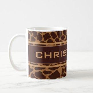 Giraffe Skin Print Pattern Personalize Mug