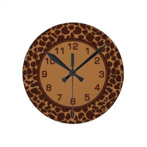 Giraffe Skin Print Pattern Wallclock