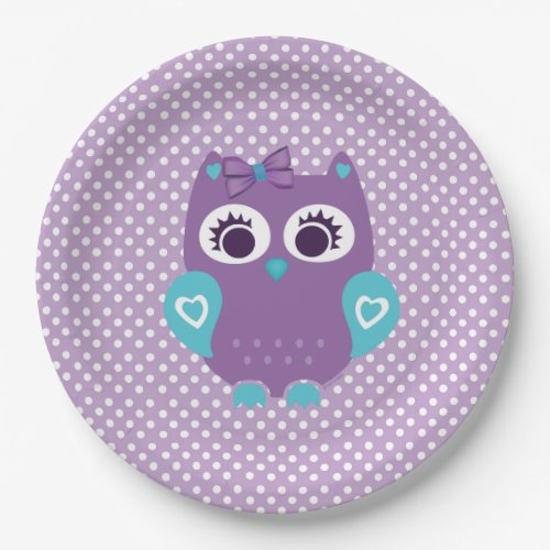 Girl Owl Paper plates for Any event