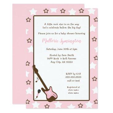 Girl Rock Star Baby Shower Invitation