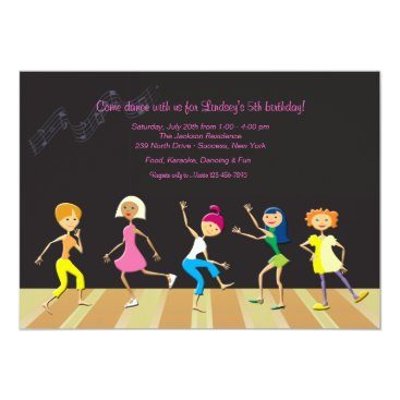 Girls Dancing Party Invitation