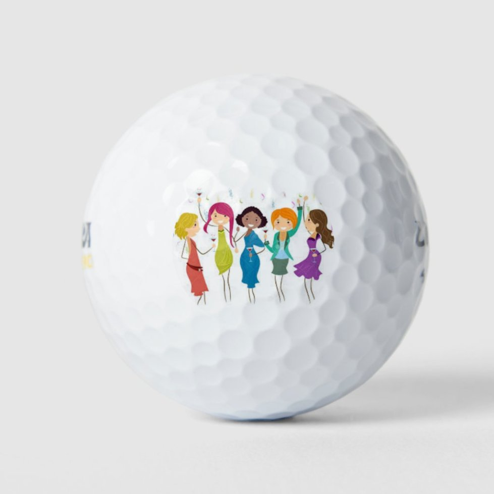 ***GIRLS JUST WANNA HAVE FUN*** GOLF BALL