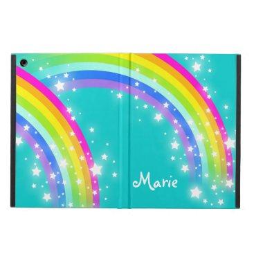 Girls name rainbow aqua ipad air powis case