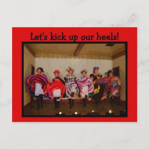 Girls Night Out Wild West Dance Hall Girls postcard