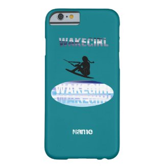 Girls wakeboarding iPhonecase -add name photo Barely There iPhone 6 Case