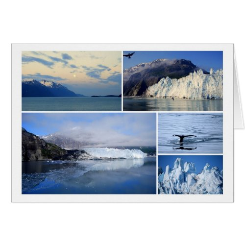 Glacier Bay Alaska Collage Card