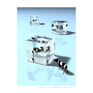 Glacons Icecubes Poster
