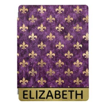 Glam Velvet Purple Le Fleur Personalized iPad Pro Cover