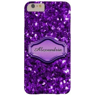 Glamorous Simulated Purple Sparkly Glitter Case