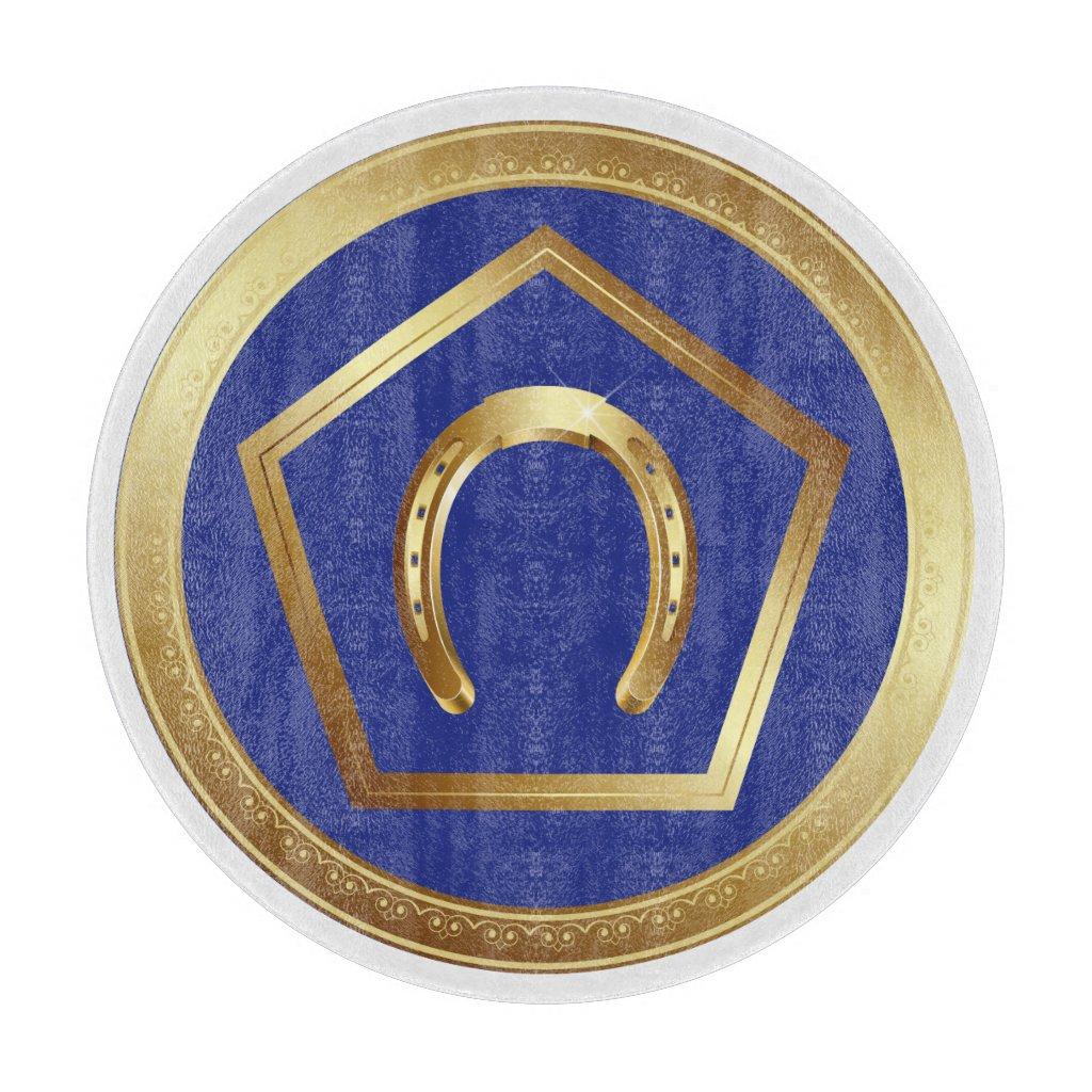 Glass Cutting Board: Germanna Foundation Cutting Board