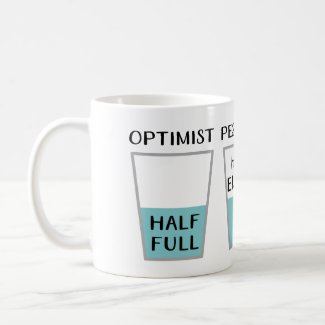 Glass Half Full Funny Meme Coffee Mug