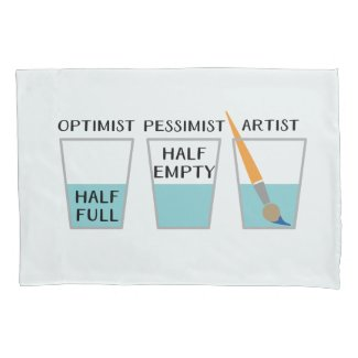 Glass Half Full Funny Meme Pillow Case