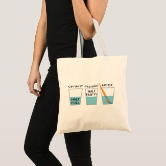 Glass Half Full Funny Meme Tote Bag