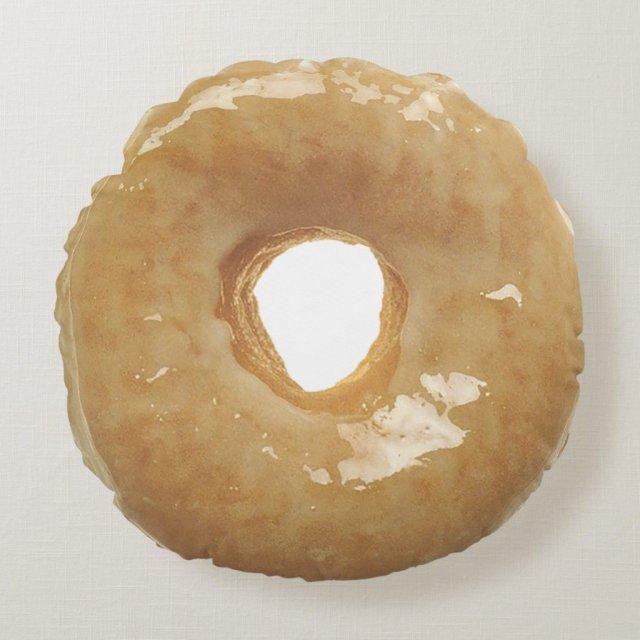 Glazed Donut Double Sided Round Pillow