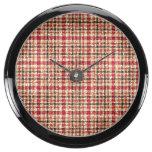Glitter Earthtone Tartan Plaid Aquavista Clocks